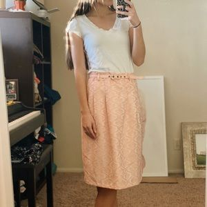 Light pink skirt